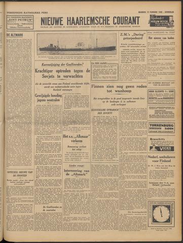 Nieuwe Haarlemsche Courant 1940-02-19