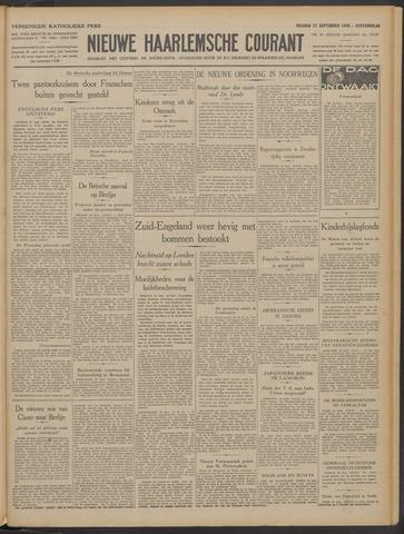 Nieuwe Haarlemsche Courant 1940-09-27