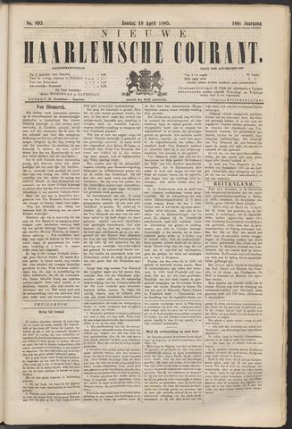 Nieuwe Haarlemsche Courant 1885-04-19