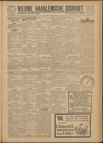 Nieuwe Haarlemsche Courant 1922-09-23