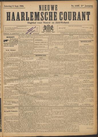 Nieuwe Haarlemsche Courant 1906-09-15