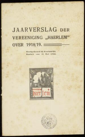 Jaarverslagen en Jaarboeken Vereniging Haerlem 1918
