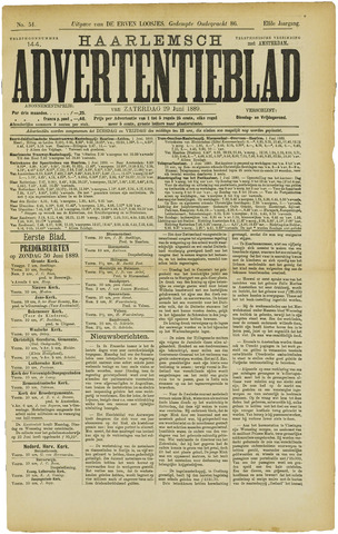 Haarlemsch Advertentieblad 1889-06-29
