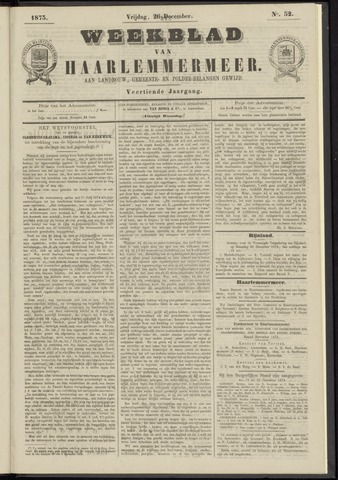 Weekblad van Haarlemmermeer 1873-12-26