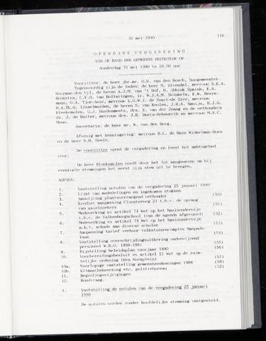 Raadsnotulen Heemstede 1990-05-31
