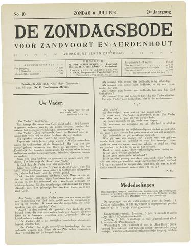 De Zondagsbode voor Zandvoort en Aerdenhout 1913-07-06