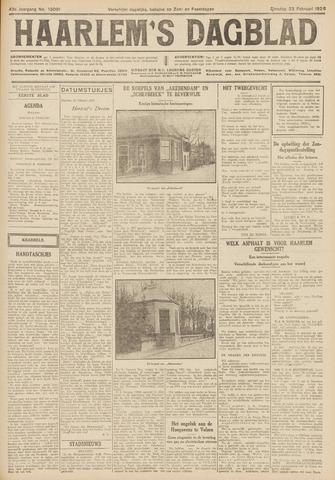 Haarlem's Dagblad 1926-02-23