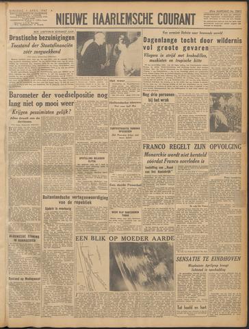 Nieuwe Haarlemsche Courant 1947-04-01