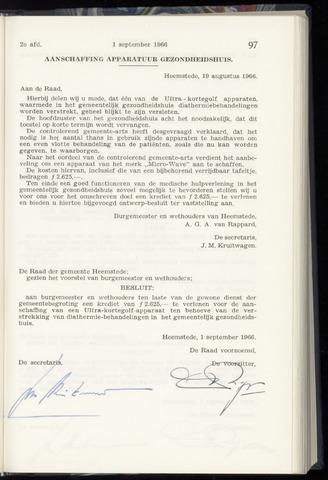 Raadsnotulen Heemstede 1966-09-01