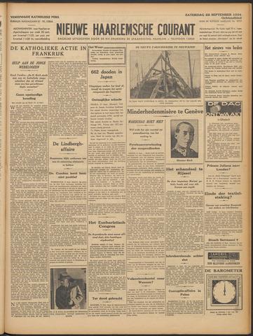Nieuwe Haarlemsche Courant 1934-09-22