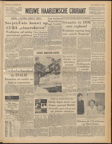 Nieuwe Haarlemsche Courant 1962-09-26