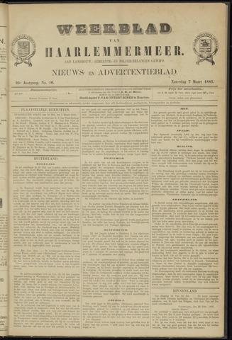 Weekblad van Haarlemmermeer 1885-03-07