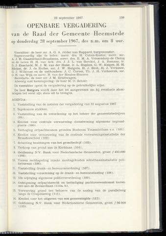 Raadsnotulen Heemstede 1967-09-28