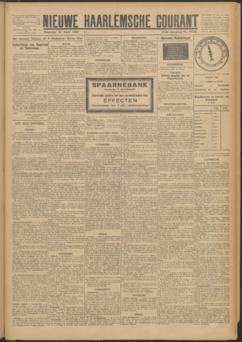 Nieuwe Haarlemsche Courant 1924-04-28