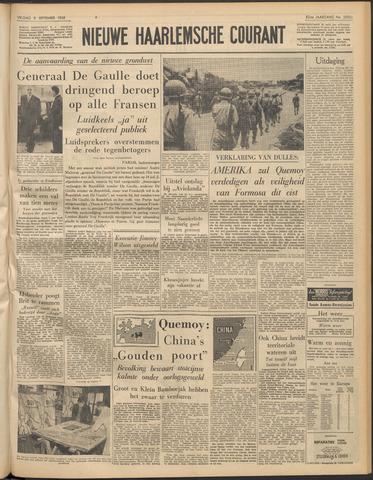 Nieuwe Haarlemsche Courant 1958-09-05