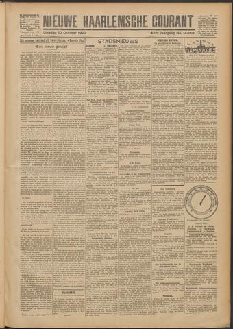 Nieuwe Haarlemsche Courant 1922-10-10