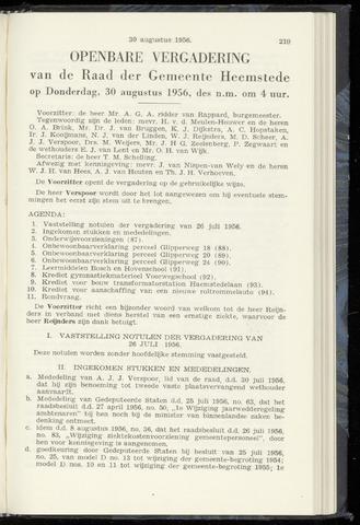 Raadsnotulen Heemstede 1956-08-30