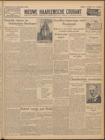Nieuwe Haarlemsche Courant 1940-11-11