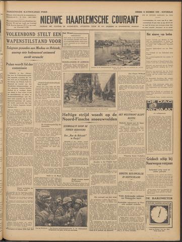 Nieuwe Haarlemsche Courant 1939-12-12