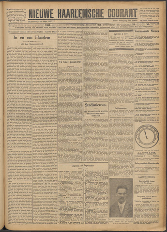 Nieuwe Haarlemsche Courant 1927-09-22