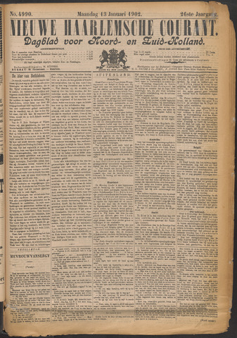 Nieuwe Haarlemsche Courant 1902-01-13
