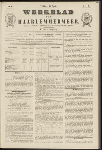 Weekblad van Haarlemmermeer 1870-04-29