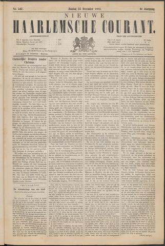 Nieuwe Haarlemsche Courant 1881-12-25