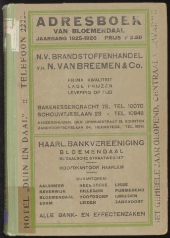 Adresboeken Bloemendaal 1925