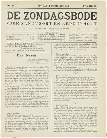 De Zondagsbode voor Zandvoort en Aerdenhout 1913-02-02