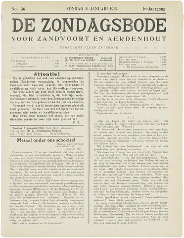 De Zondagsbode voor Zandvoort en Aerdenhout 1913