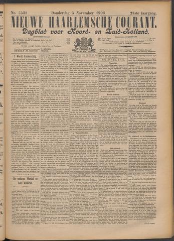 Nieuwe Haarlemsche Courant 1903-11-05