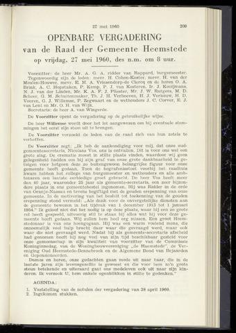 Raadsnotulen Heemstede 1960-05-27