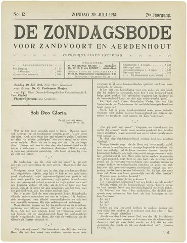 De Zondagsbode voor Zandvoort en Aerdenhout 1913-07-20