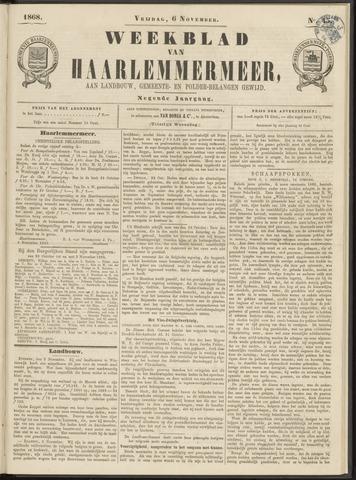 Weekblad van Haarlemmermeer 1868-11-06