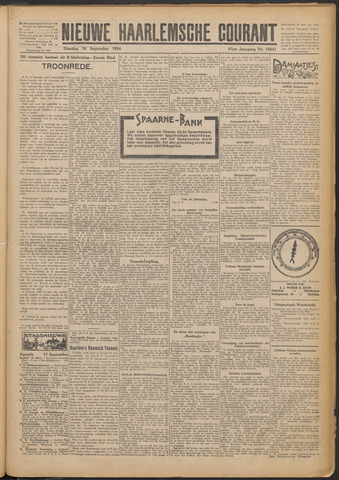 Nieuwe Haarlemsche Courant 1924-09-16