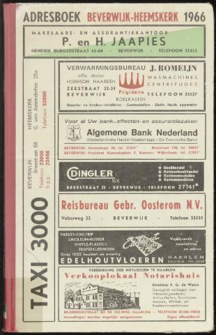 Adresboeken Beverwijk, Heemskerk 1966-01-01