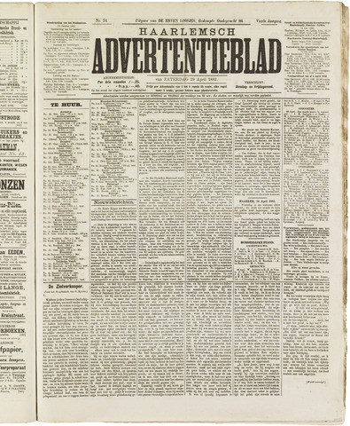 Haarlemsch Advertentieblad 1882-04-29