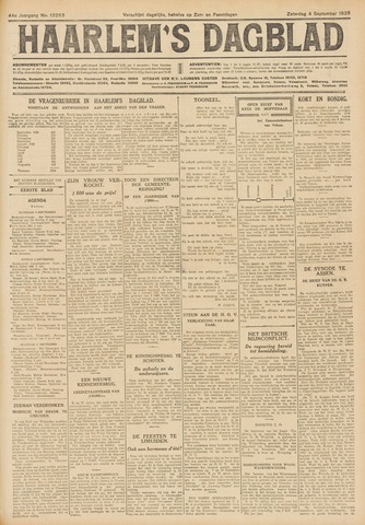 Haarlem's Dagblad 1926-09-04