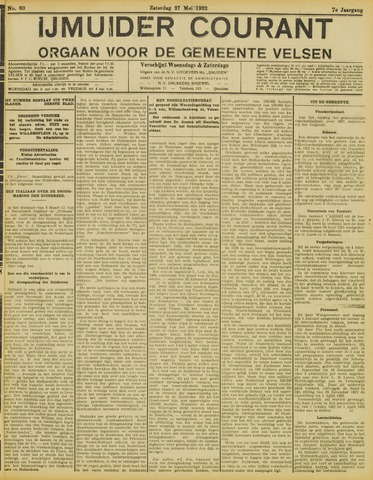 IJmuider Courant 1922-05-27