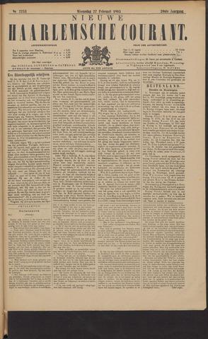 Nieuwe Haarlemsche Courant 1895-02-27