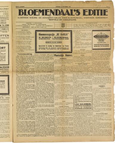 Bloemendaal's Editie 1925-09-19