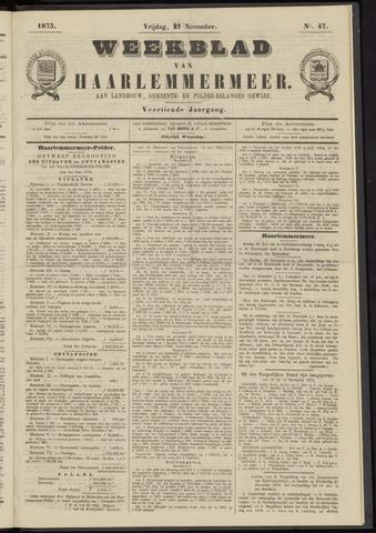 Weekblad van Haarlemmermeer 1873-11-21
