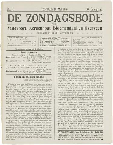 De Zondagsbode voor Zandvoort en Aerdenhout 1916-05-28