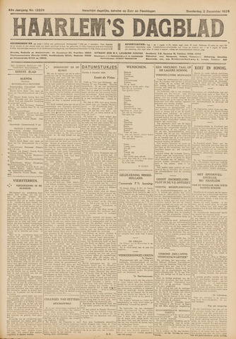 Haarlem's Dagblad 1926-12-02