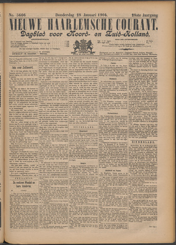 Nieuwe Haarlemsche Courant 1904-01-28