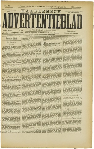 Haarlemsch Advertentieblad 1889-10-02