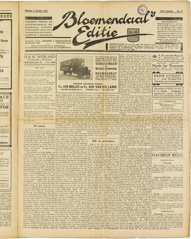 Bloemendaal's Editie 1929-02-09