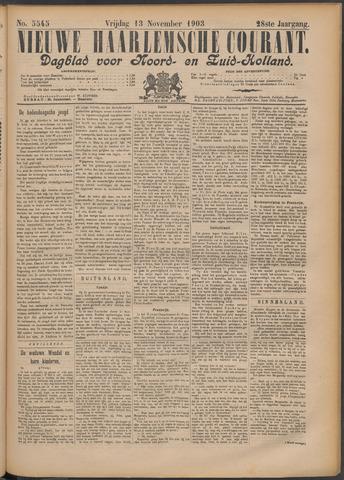 Nieuwe Haarlemsche Courant 1903-11-13