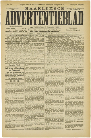 Haarlemsch Advertentieblad 1898-09-17