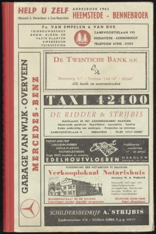 Adresboeken Heemstede, Bennebroek 1963